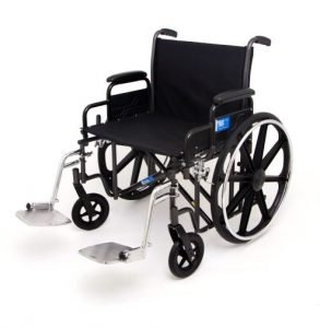 "Bariatric Wheelchair by Drive Medical with 24"" Seat and Leg Rests Rented by Special Needs Group"