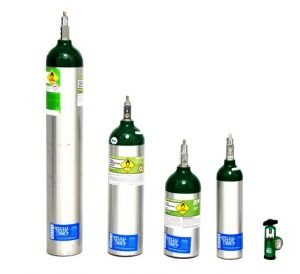 Different Size Cylinders of Oxygen - M6, C, D, and E Rented by Special Needs Group