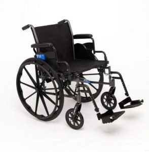 "Standard 18"" Seat Wheelchair by Drive Medical with Leg Rests Rented by Special Needs Group"