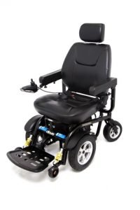 Heavy-Duty Powerchair with Joystick Control Rented by Special Needs Group