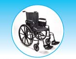 Drive Medical Standard-Size Wheelchair with Leg Rests