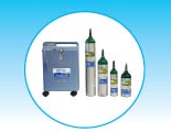Stationary Oxygen Concentrator and Various Size Oxygen Cylinders - M6, C, D, and E